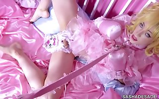 Diapered Sissy inspected by Mistress